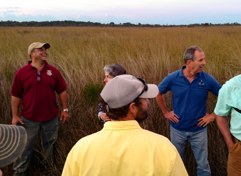 Mike Legare leads a group of biologists attending a black rail adaptive management workshop