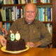 Mitchell Byrd with birthday cake in the CCB conference room in August of 2018.